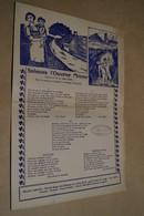 Mineurs,Mines,Charbonnage,Saluons L'ouvrier Mineur,maison Halleux,Liège,carton,32 Cm. Sur 22 Cm. ,superbe état - Autres Collections
