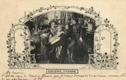 Carte Photo LCOUSINE YVONNE  Famille + Decor  RV Les Annales Politiques Et Litteraires - Photographs