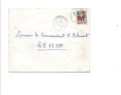 OBLITERATION DE VILLERAUGUE GARD 1966 - Marcofilia (sobres)