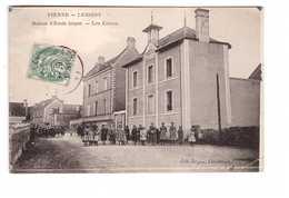86 Vienne Lesigny Maison D' école Laique Les élèves Cpa Carte Animée , Voir état Ci Dessous - Otros Municipios
