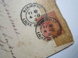 1906 CACHET MARITIME MARSEILLE LIGNE De TUNIS Carte Postale Double Hirodelle à Système Village - Maritime Post