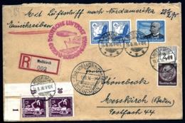 POSTE AÉRIENNE PAR ZEPPELIN HINDENBURG 1936- 7°  VOYAGE RETOUR AMERIQUE NORD- 19-8-36- 2 SCANS - Airmail