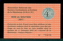 268 - LOT 4 BONS DE SOUTIEN ANCIENS COMBATTANTS DE LA RESISTANCE - Old Paper