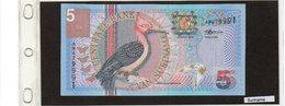 Banconota Suriname 5 Vijf Gulden - Surinam