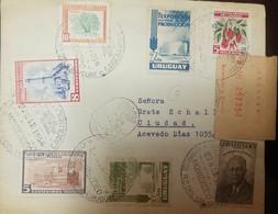 O) 1956 URUGUAY, ISLAND OF SEALS-SOUTHERN SEA LIONS, LEGISLATURE, FAIR ENTRANCE ROOSEVELT, REGISTERED-EXPEDICION AL EXTE - Uruguay