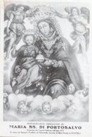 Napoli - Santino Antico MARIA SS. DI PORTOSALVO Santuario Pontificio Al Molo Piccolo - PERFETTO P87 - Religione & Esoterismo