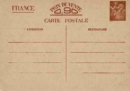 Carte Sans Valeur CP 2 Non Circulée - Entiers Postaux