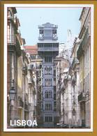 Tourism. Santa Justa Elevator, Lisbon. Built Architect Ponsard. Postal Stationery. Full Rate Paid Everyone. Anas Crecca. - Vacanze & Turismo