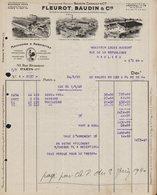 FACTURE 24 MAI 1940 - FLEUROT BAUDIN ET CIE - Rue Réaumur PARIS 2ème Art - Mouchoirs Et Serviettes - 1900 – 1949