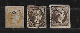 GRECE 36/41 Oblitérés Rond - 1861-86 Grands Hermes