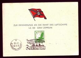POSTE AÉRIENNE PAR GRAF ZEPPELIN II 1939- CARTE SOUVENIR DE L'ATERRISSAGE A ZWICKAU- 26-8-39- - Posta Aerea