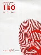 Lote 2018-22C, Colombia, 2018, Folder, Cent De La Recuperación De La Independencia De Polonia, Polska, FDC, Sheet - Colombia
