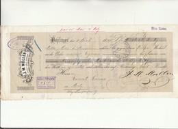 A 1 - Acquit Bancaire - Ets J.M.MOLLEN à BOPFINGEN - CHATEAU SALINS -   METZ -  Lothringen - Fiscaux