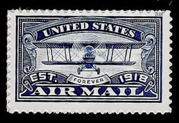 USA, 2018, 5281,Airmail, Blue, Single Forever, MNH, VF - Unused Stamps