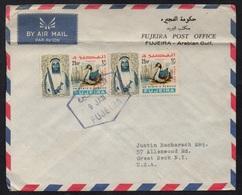 FUJEIRA - UAR /1966 LETTRE AVION POUR LES USA (ref LE2837) - Fujeira