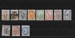 GRECE 146à153/155/162 Oblitérés Rond - 1886-1901 Petits Hermes