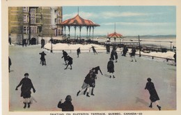 Ice Skating . Dufferin Terrace , QUEBEC , Canada , 1930s - Winter Sports