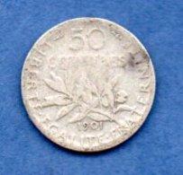 50 Centimes 1901  -  état  B+ - France
