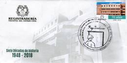 Lote 2018-23F, Colombia, 2018, SPD-FDC, Registraduría Nal Del Estado Civil, National Registry Of Civil Status - Colombia