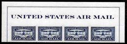 USA, 2018, 5281,Airmail, Blue, Header With Strip Of 4,Forever, MNH, VF - Ongebruikt