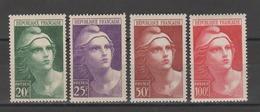 FRANCE / 1945 / Y&T N° 730/733 ** : Gandon (4 TP GF) - Gomme D'origine Intacte - France