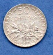 50 Centimes 1910  -  état  TTB - France