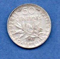 50 Centimes 1911  -  état  TB+ - France