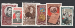 Russia 1952 6 Val. */MH VF - 1923-1991 USSR