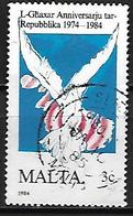 MALTE    -   1984 .   Y&T N° 697 Oblitéré.   Colombe - Malte