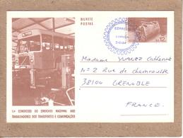ANGOLA - CARTE ENTIER POSTAL LUANDA 1984 - CONGRESSO DO SINDICATO ..... - AUTOCAR AUTOBUS VOLVO - Angola