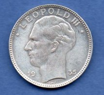 Belgique  -  20 Francs 1935  -  état  TTB - 1934-1945: Leopold III