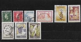 GRECE 581à583/585/586/588à591  Oblitérés Rond - Grèce