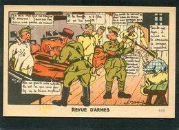 CPA - Garde à Vos! - Illustration - REVUE D'ARMES - Humour