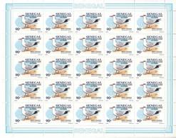 Sénégal - Feuillet De 25 Timbres - 1153 - Oiseaux De Mer En Danger - Sterne - Sénégal (1960-...)