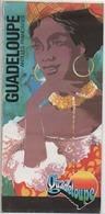 Carte Géographique Sur La Guadeloupe - Dépliants Touristiques