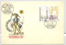 74571- NATIONAL PHILATELIC EXHIBITION, SPECIAL COVER, 1966, ROMANIA - 1948-.... Républiques
