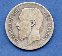 Belgique  -  1 Franc 1866  -  état  B+ - 1865-1909: Leopold II