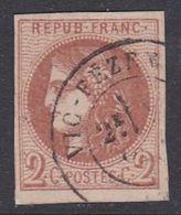 Bordeaux N° 40B Oblitéré CàDate - Voir Verso & Descriptif - - 1870 Bordeaux Printing