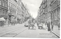 Denmark - København - Vesterbrogade With Tram, Shops And Streetlife - Dänemark
