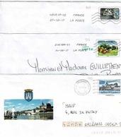 3 Enveloppes Reprenant Différents Timbres - Prêts-à-poster:  Autres (1995-...)