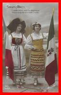 CPA MILITARIA. Guerre 1914-18.  Soeurs Alliées. L'Italie Aussi Veut Ta Délivrance...I0205 - Patriottiche