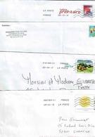 4 Enveloppes Reprenant Différents Timbres - Entiers Postaux