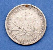 1 Franc 1901  -  état  TB - France