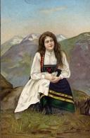 Donnina - In Costume D'epoca - Formato Piccolo Non Viaggiata – E 9 - Cartoline