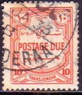 JORDAN TRANSJORDAN 1929 SG D192 10m Used Postage Due Perf.14 CV £14 - Jordan