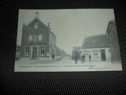 Meerdonck  Meerdonk  ( Sint - Gillis - Waas )  Gemeentehuis En School - Sint-Gillis-Waas