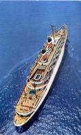 Nave - American Export Lines - S.s. Constitution - S.s. Independence - Mediterranea U.s.a. - Formato Piccolo Non Viaggia - Cartoline