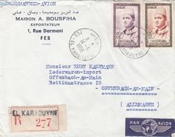 MAROC 1958 - 2 Fach Frankierung Auf R-LP-Brief - Marokko (1956-...)