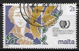 MALTE    -   1985 .   Y&T N° 704 Oblitéré .  Jeunesse - Malta