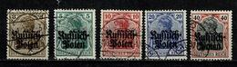 Poland 1915 Mi 1/5 (o), Yv 1/5 (o) - Ocupación 1914 – 18